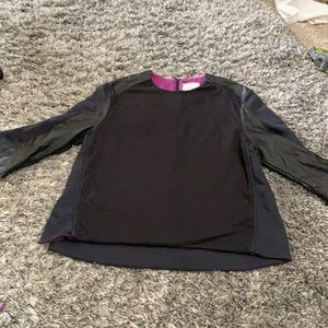 Nike black and leather top
